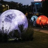 """Bei der """"Langen Nacht der Wissenschaften"""" in 2019 in Berlin lernten  die Besucher anhand übergroßer Kugeln die Planeten des Sonnensytsems kennen.."""