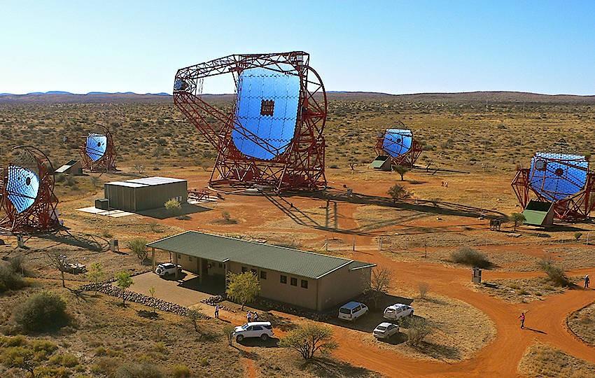 Das Teleskop-Array H.E.S.S. in Namibia