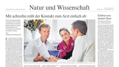 """Die Seite N1 der Ausgabe von """"Natur und Wissenschaft"""" von heute."""