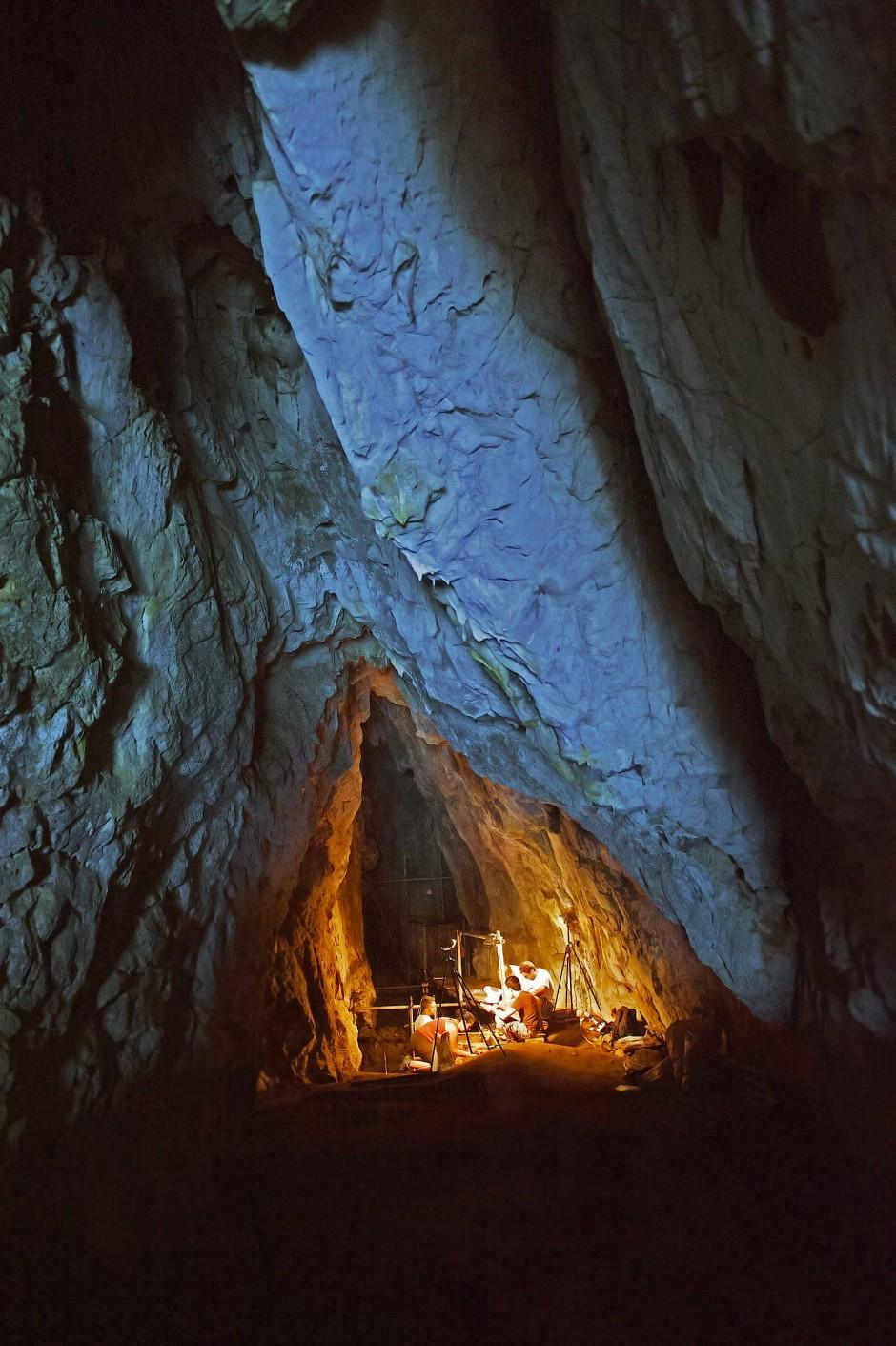 Vom jagenden und sammelnden Höhlenbewohner zum Bauern und Viehzüchter.