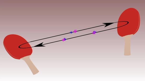 Ionen-Pingpong zur Massenbestimmung von exotischen  Kalziumkernen