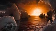Fotorealistische Träumerei - Wie sieht es aus im Trappist-1-System?