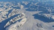 Der Heimdal-Gletscher in Südgrönland