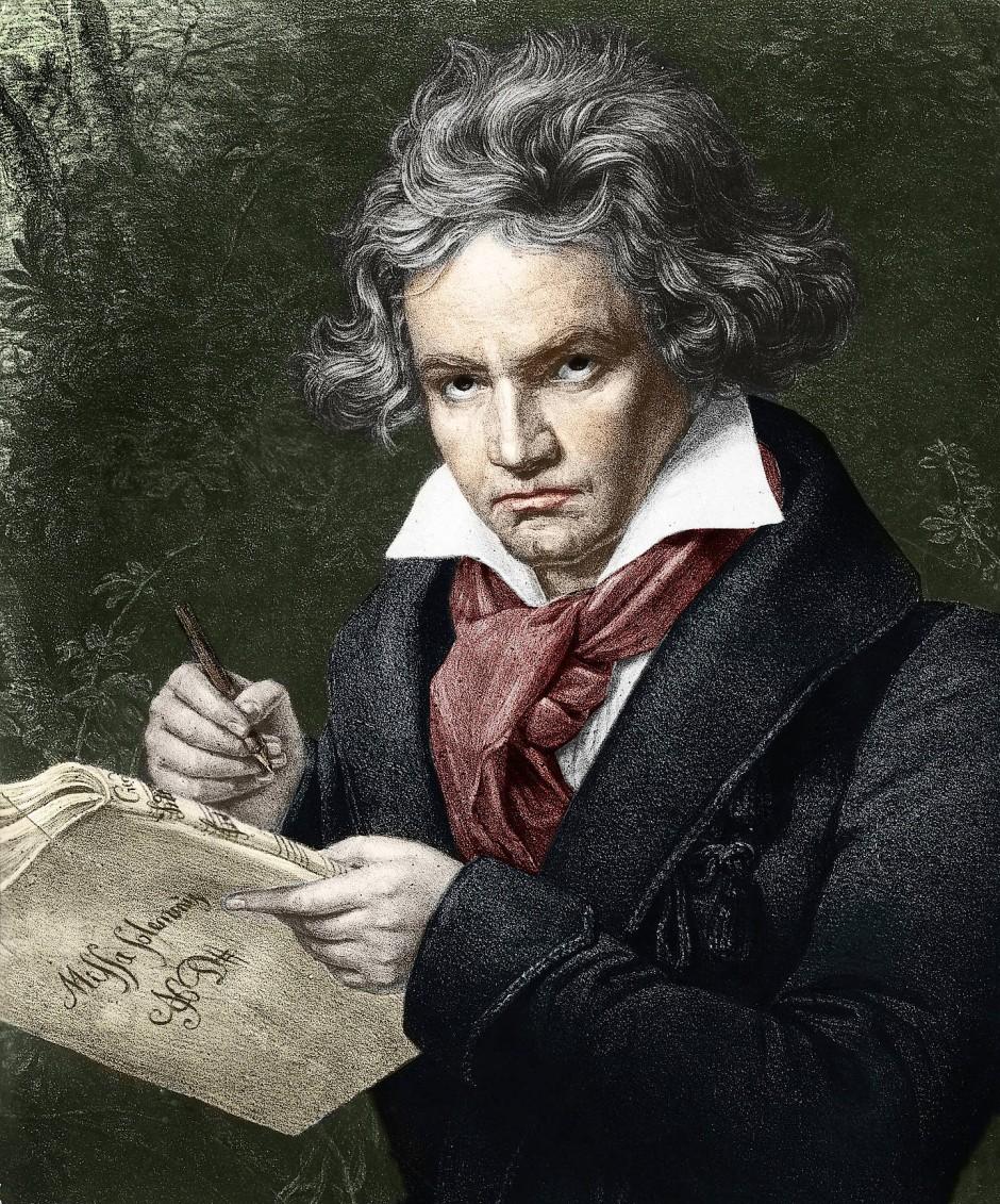 Das berühmte Porträt des Komponisten von Karl Joseph Stieler (1781-1858)