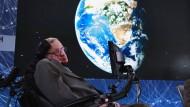 Jahrhundertphysiker Stephen Hawking am 12. April 2016 in New York.