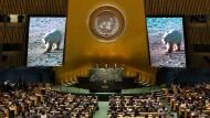 Sinnbild des Klimawandels: Eröffnung des UN-Klimagipfels durch Generalsekretär Ban Ki-moon