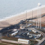 Ein Tag danach: Die zerstörte Antares-Startanlage in Wallops Islands in Virginia