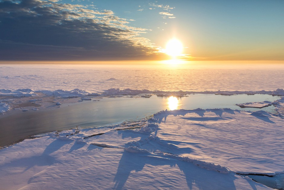 Das arktische Meereis schmilzt im Rekordtempo.