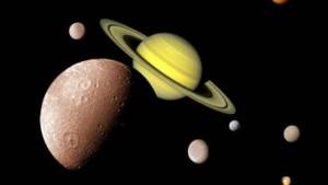 Weitere neun Monde des Planeten Saturn