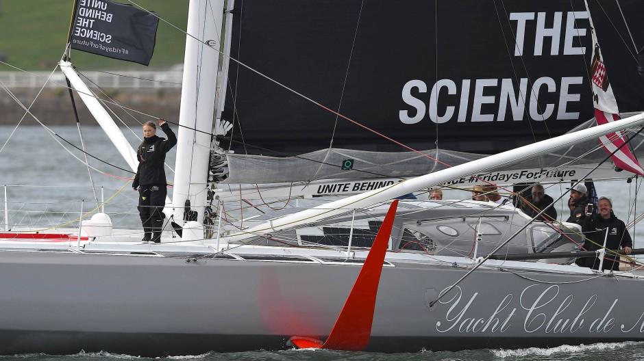 Segeln für die Wissenschaft – und fürs Klima: Greta Thunberg startete im August von Südwestengland aus über den Atlantik.