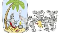 Auch unter einer luftdichten Käseglocke kanneine Maus beim Lagerfeuer vortrefflich leben, solange eine Pflanze für genügend Sauerstoff sorgt.
