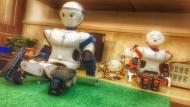 Ruhepause im Roboterlabor der Teheran-Universität. In Irans Hauptstadt finden immer wieder Robo-Cup-Weltmeisterschaften statt.