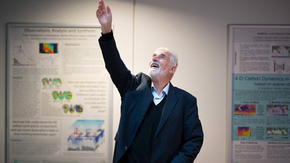 Klimaforscher Klaus Hasselmann bei dem Ehren-Empfang am Max-Planck-Institut für Meteorologie in Hamburg.