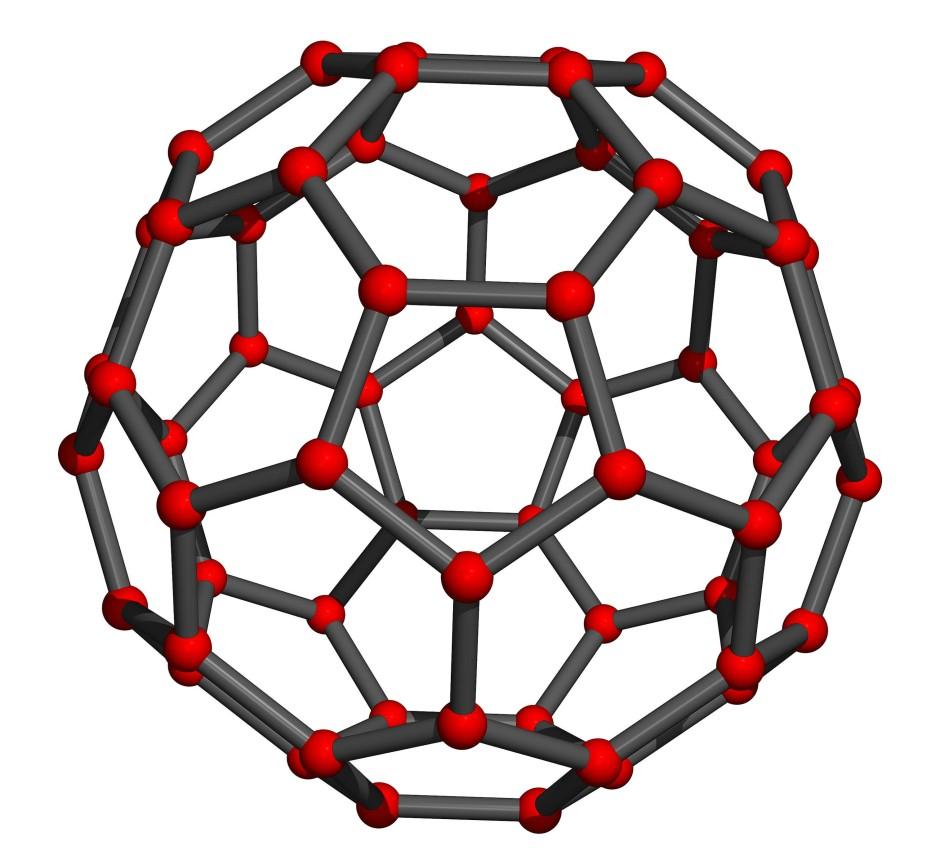Die Fullerene besitzen eine fussballförmige Struktur