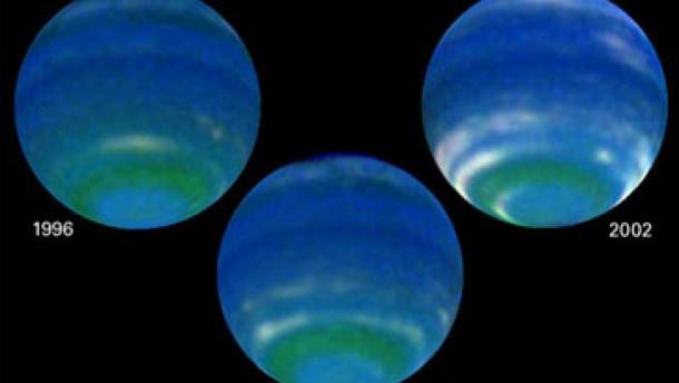 Sommer und Winter auf dem Planeten Neptun