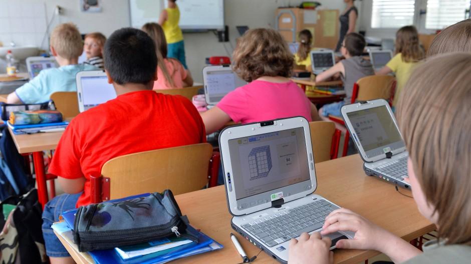 Schüler der vierten Klasse der Grundschule «Wilhelm Busch» in Altenburg.