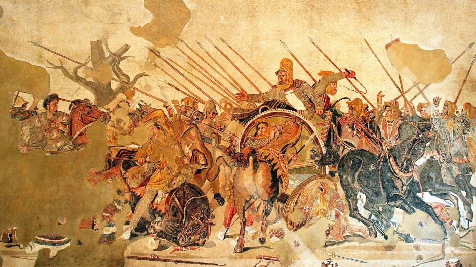 Er allein? Nein, der junge Alexander hätte die Perser nicht besiegt, wenn ihm Seleukos, der General seiner Gardeinfanterie, nicht beigestanden hätte.