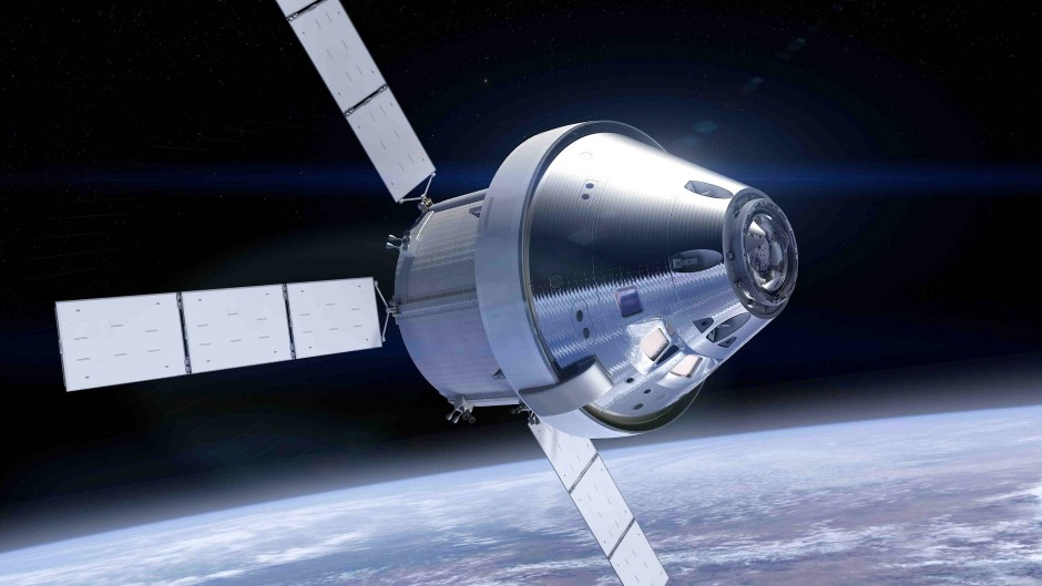 Orion-Kapsel mit europäischem Servicemodul