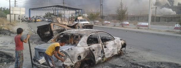 Mit Giftstoffen belasteter Qualm im irakischen Kriegsgebiet