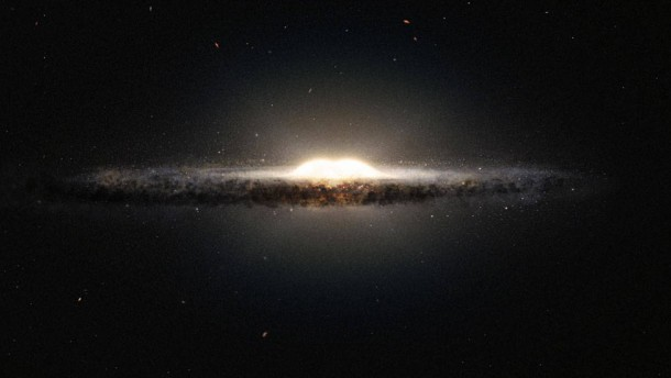Die gewölbte  Milchstraße