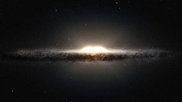 Galaxis auf der Waage