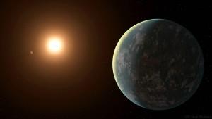 Planetentrio in kosmischer Nachbarschaft