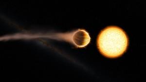 Ein ferner Jupiter mit einer Stratosphäre