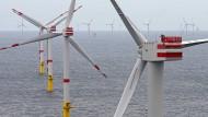 """Offshore-Windpark """"Nordsee 1""""  vor der ostfriesischen Insel Spiekeroog."""
