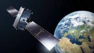 Ein Späher des europäischen Satelliten-Navigationssystems Galileo