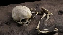 Afrikas früheste Bestattung
