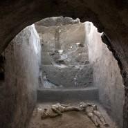 Versuchten womöglich, vor dem Vesuvausbruch zu fliehen: Zwei Männer, die einer Vorstadtvilla nahe Pompejis gefunden wurden.