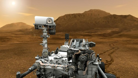 """Curiosity"" auf dem Weg zum Mars"