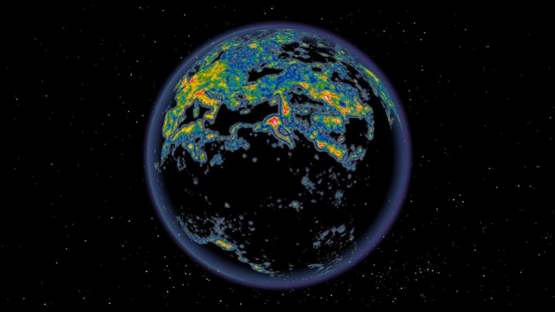Lichtverschmutzung Karte Welt.Kunstliche Beleuchtung Der Weltatlas Der Lichtverschmutzung