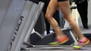 Computerprogramme messen die Fitness