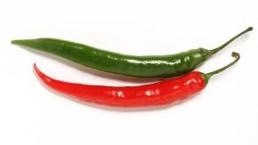 rote und grüne Chili