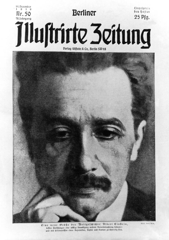"""Albert Einstein Superstar: Als """"eine neue Größe der Weltgeschichte"""" betitelte ihn im Dezember 1919 diese Wochenzeitschrift."""