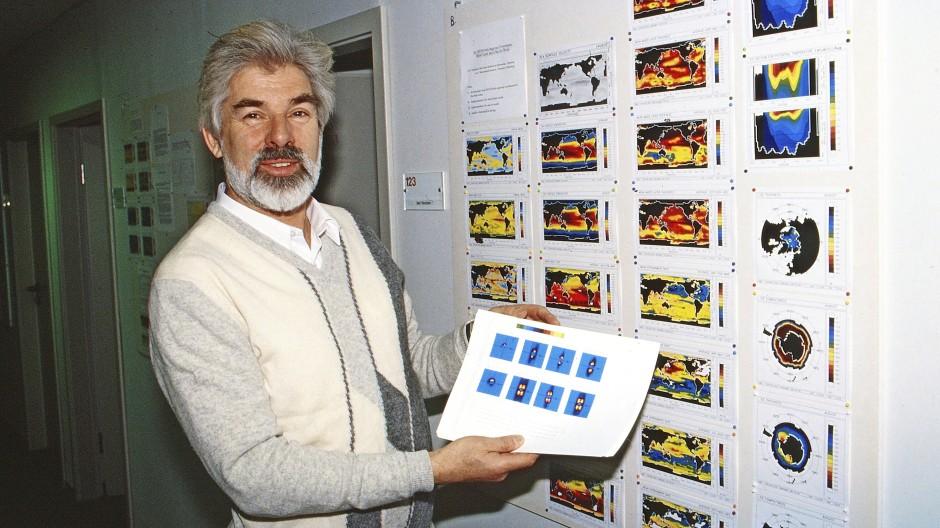 Der spätere Physik-Nobelpreisträger Klaus Hasselmann im Jahr 1990