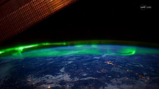 Aufnahmen aus dem All: Polarlichter in Ultra HD