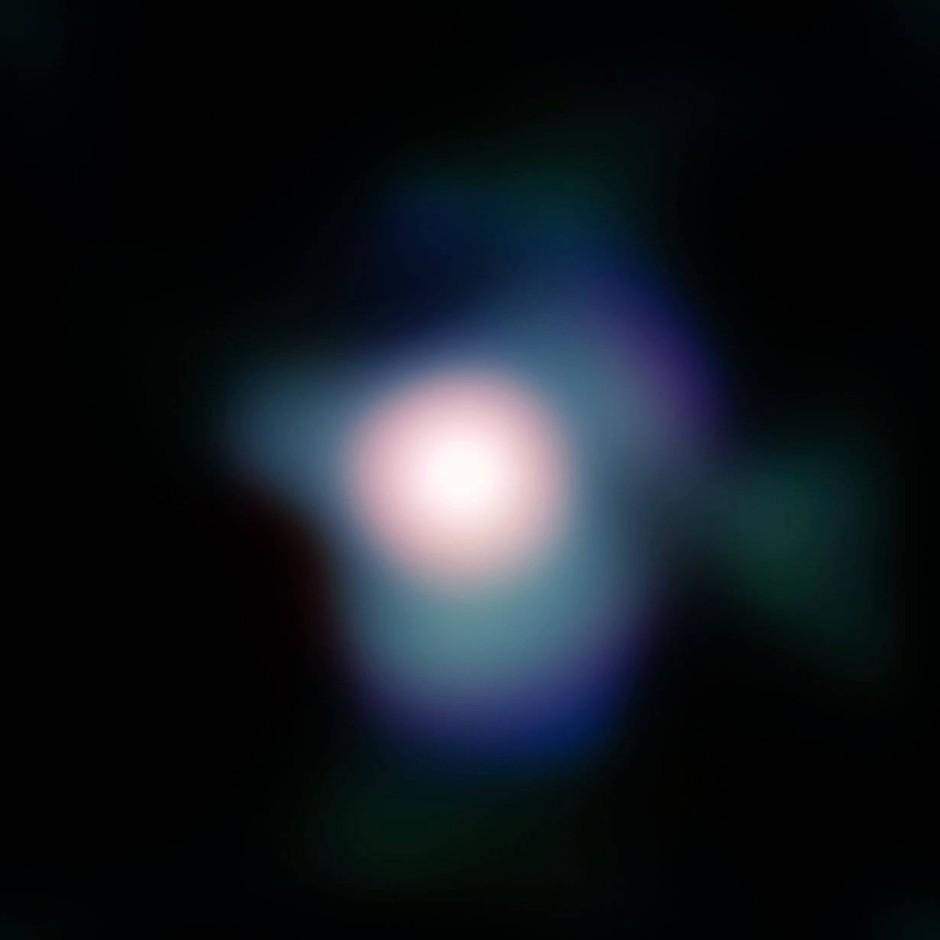 Nahaufnahme des Sterns Betelgeuse im Sterbild Orion