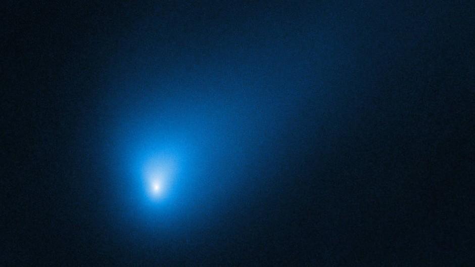 Der Komet 2I/Borisov, aufgenommen vom Hubble Space Telescope am 12. Oktober. Da war er 420 Millionen Kilometer entfernt.