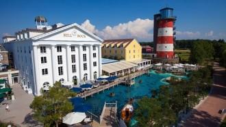 """Traumhaft übernachten im Europa-Park – hier das 4-Sterne Superior Hotel """"Bell Rock""""."""
