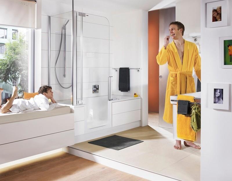 Dusch-Badwannen-Kombination Die Badewanne der Zukunft