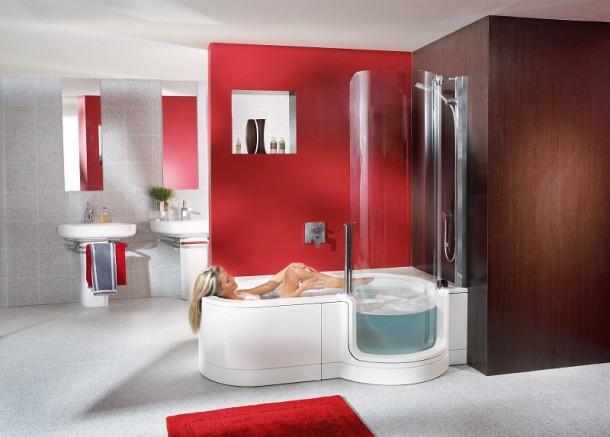 Dusch-Badewannen bieten eine vollwertige Badewanne für ...