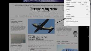 FAZ.NET als Startseite für Google Chrome I