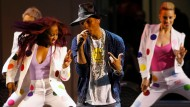 Pharrell Williams beim Auftritt in Paris