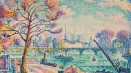 Paul Signac, Pont des Arts (Paris), 1925, Öl auf Leinwand, 89,3 mal 116,5 Zentimeter: Taxe 4,8 bis 5,5 Millionen Franken, zugeschlagen 4,6 Millionen Franken
