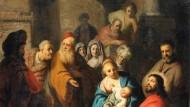 """Ein früher Rembrandt? Das 103 mal 86 Zentimeter große Gemälde """"Lasset die Kinder zu mir kommen"""" erzielte bei Lempertz 1,25 Millionen Euro, gegenüber einer Taxe von 15.000 Euro."""