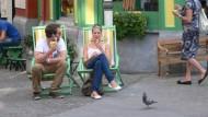 Antwerpen im Sommer: Auch wenn die Flamen in Belgien als arbeitsam gelten, ein Eis bei Sonnenschein genießt man auch dort.