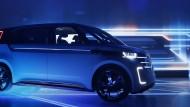 Der Elektrobulli BUDD-e von VW: Die Entwicklung von Elektroautos wird vor allem durch die Konkurrenz aus Amerika gepusht.