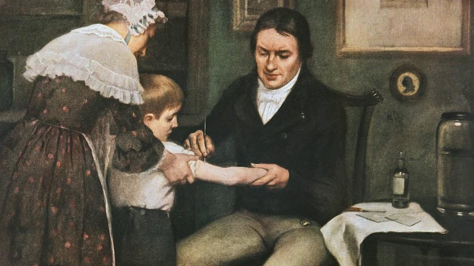 Dr. Edward Jenner war ein Pionier der Impfforschung. Ihm gelang es, Kinder gegen die Pocken zu immunisieren.